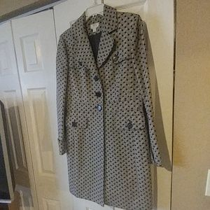 Brown and cream womens Ann Taylor Loft coat size8